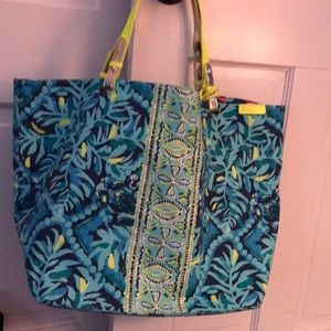 Lilly pulitzer reversible beach bag